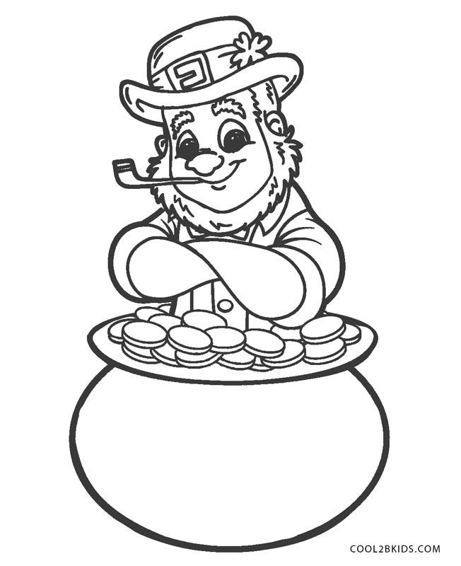 Free Printable Leprechaun Coloring